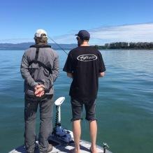 Nikolaj Mathieson and Chris Sharland scouting, scouting, scouting.