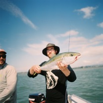 George pulled through on a tough day. Kingfish on the board.