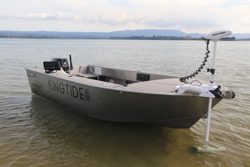 King tide, kingfish, salt water fly, fly rod, ocean, fishing