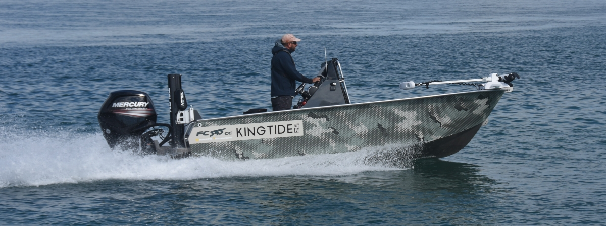 king tide salt fly, fc boats, fc535, centre console, fly fishing, New Zealand salt fly guide, Lucas Allen