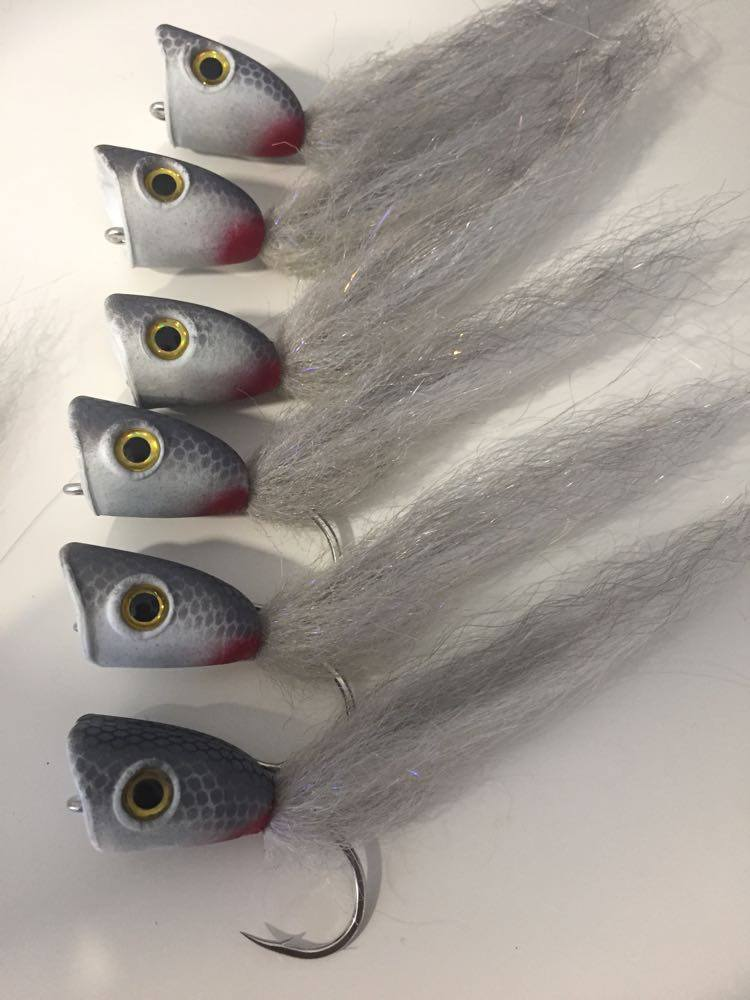 King Tide Salt Fly Double Barrel Poppers for Kingfish