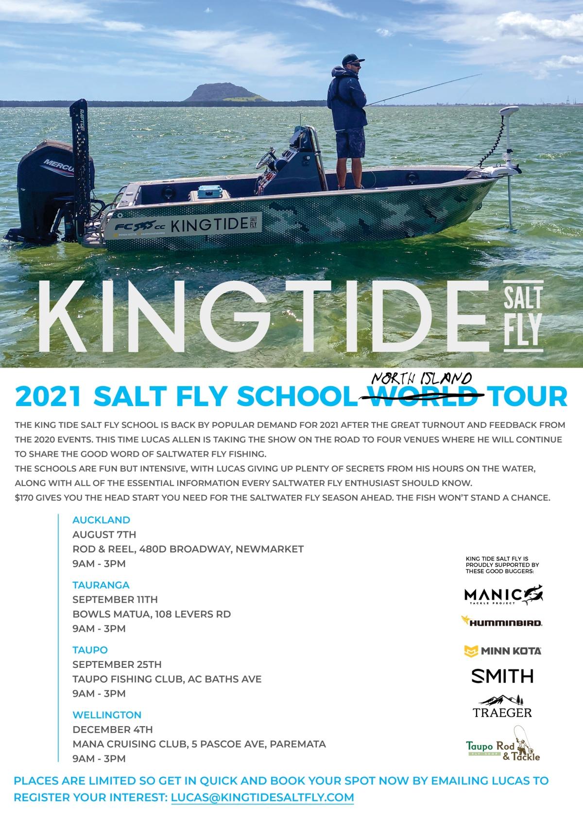 Salt Fly School North Island Tour2021
